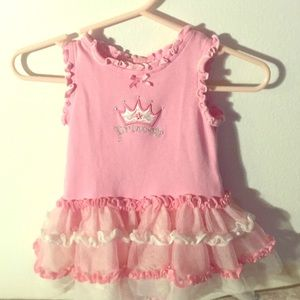 2/2 Princess Dress (see floral) Nb-3m (2 patterns)